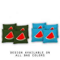 """Watermelon"" Cornhole Bags - Set of 8"
