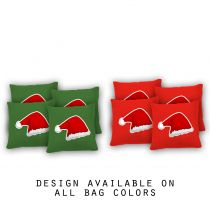 """Santa Hat"" Cornhole Bags - Set of 8"
