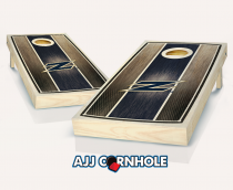 Akron Zips Stained Striped Cornhole Set