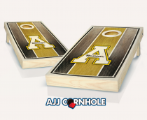 App State Stained Striped Cornhole Set