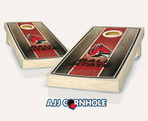 Ball State Stained Striped Cornhole Set