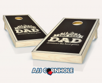 """Best Dad"" Stained Cornhole Set"