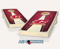 Central Michigan Stained Pyramid Cornhole Set