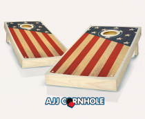 """Colonial"" Chestnut Stained Cornhole Set"