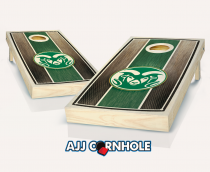 Colorado State Stained Striped Cornhole Set