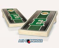 Eastern Michigan Stained Stripe Cornhole Set