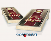 Elon Stained Striped Cornhole Set