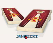 Iowa State Stained Pyramid Cornhole Set