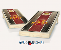 Iowa State Stained Striped Cornhole Set