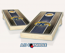 Kent State Stained Striped Cornhole Set