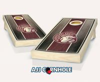 Mississippi State Stained Stripe Cornhole Set