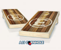 """Monogrammed Barnwood"" Stained Cornhole Set"