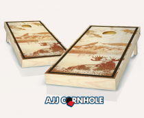 """Moose Lake"" Stained Cornhole Set"