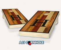 """Multicolored Monogram"" Stained Cornhole Set"