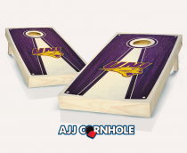 Northern Iowa Stained Pyramid Cornhole Set