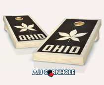 """Ohio Buckeye"" Stained Cornhole Set"