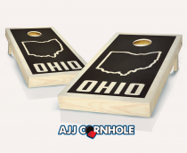 """Ohio State"" Stained Cornhole Set"