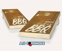 """Personalized BBQ"" Stained Cornhole Set"