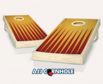 """Retro Stained Pointed"" Cornhole Set"