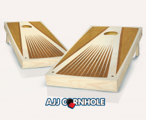 """Retro Stained Pyramid Ray"" Cornhole Set"