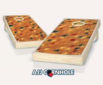 """Retro Stained Riser"" Cornhole Set"