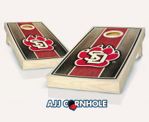 South Dakota Stained Stripe Cornhole Set