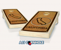 """California"" State Stained Cornhole Set"