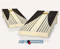 """Swooping Stripes"" Stained Cornhole Set"
