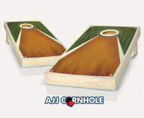 """Tarpis Green"" Chestnut Stained Cornhole Set"
