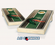 UAB Stained Striped Cornhole Set