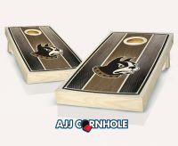 Wofford Stained Stripe Cornhole Set