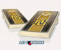 Marquette Stained Striped Cornhole Set