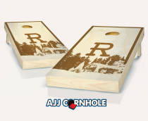 """Monogrammed Roughneck"" Stained Cornhole Set"