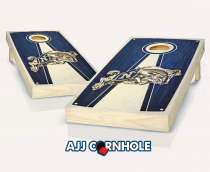Navy Stained Pyramid Cornhole Set