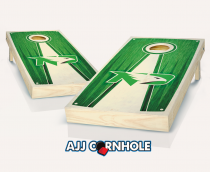 North Dakota Stained Pyramid Cornhole Set