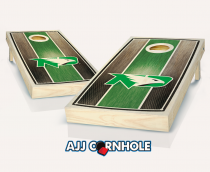 North Dakota Stained Stripe Cornhole Set