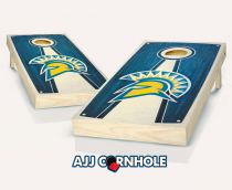 San Jose State Stained Pyramid Cornhole Set