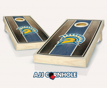 San Jose State Stained Stripe Cornhole Set