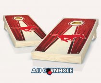 Southern Methodist Stained Pyramid Cornhole Set