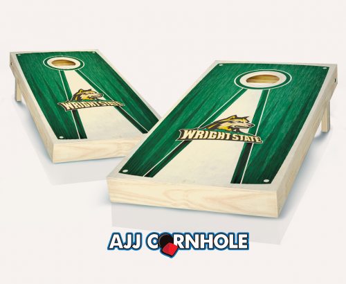 Wright State Stained Pyramid Cornhole Set
