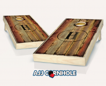 """Burned Monogram"" Cornhole Set"