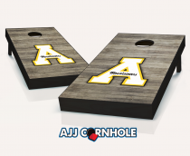App State Mountaineers Distressed Cornhole Set