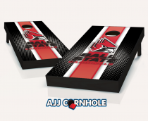 Ball State Cardinals Striped Cornhole Set