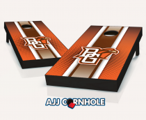 """Bowling Green Falcons"" Striped Cornhole Set"
