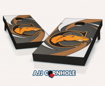 """Campbell Fighting Camels"" Swoosh Cornhole Set"