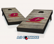 """Central Michigan Flying C's"" Distressed Cornhole Set"