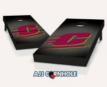 """Central Michigan Flying C's"" Slanted Cornhole Set"