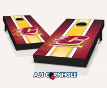 """Central Michigan Flying C's"" Striped Cornhole Set"