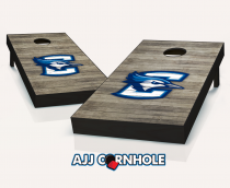 """Creighton Bluejays"" Distressed Cornhole Set"