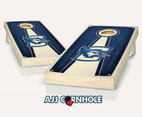 Creighton Stained Pyramid Cornhole Set